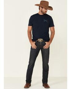 Cody James Men's Barn Sour Dark Wash Stretch Slim Straight Jeans , Blue, hi-res