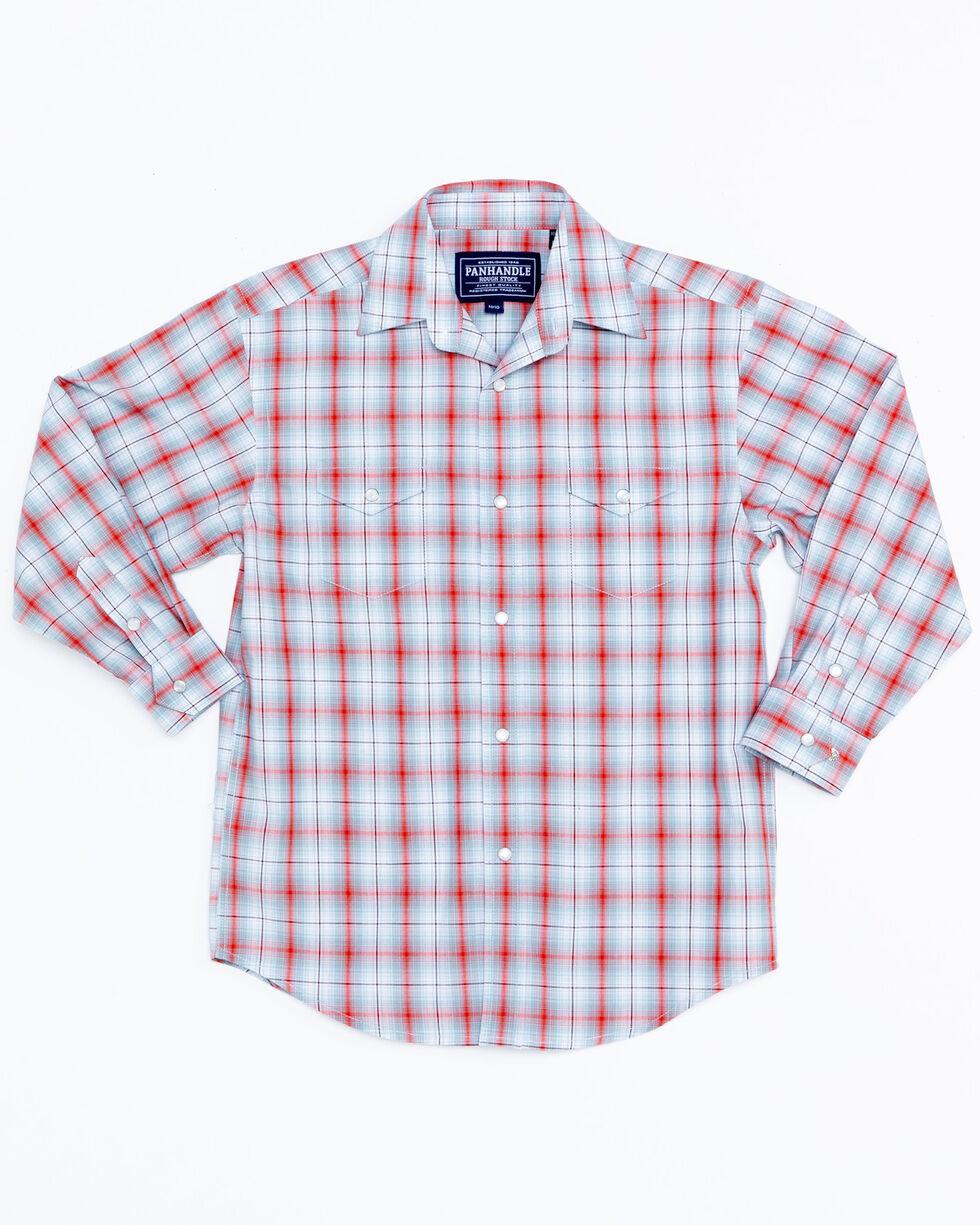Panhandle Boys' Plaid Tabor Vintage Snap Long Sleeve Shirt , Multi, hi-res