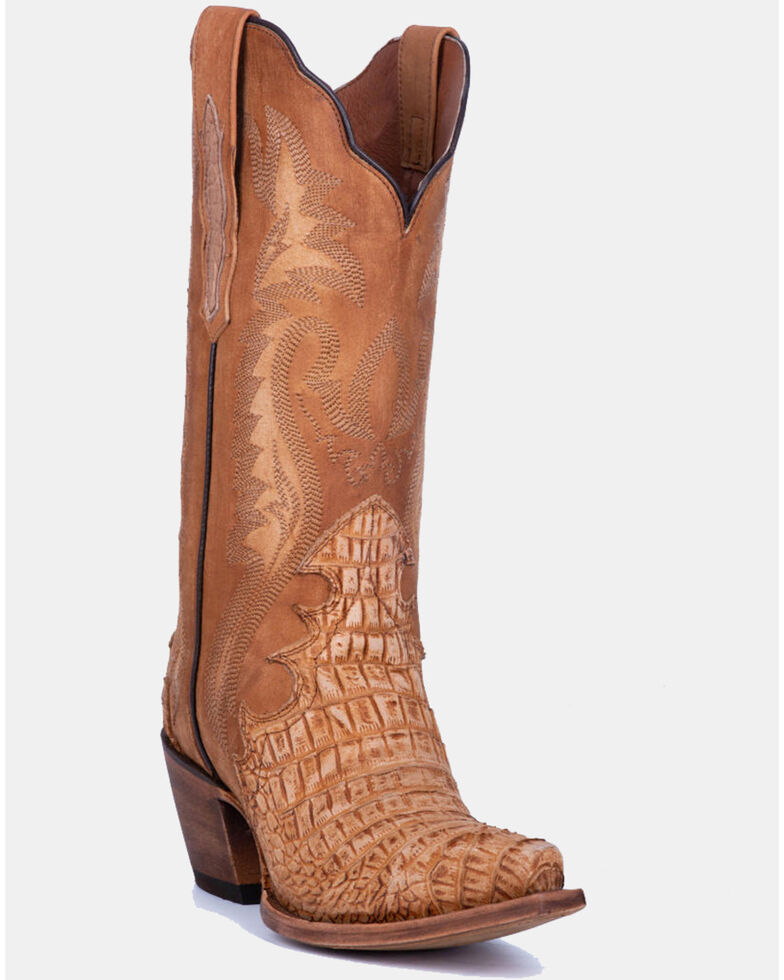 Dan Post Women's Remy Western Boots - Snip Toe, Tan, hi-res