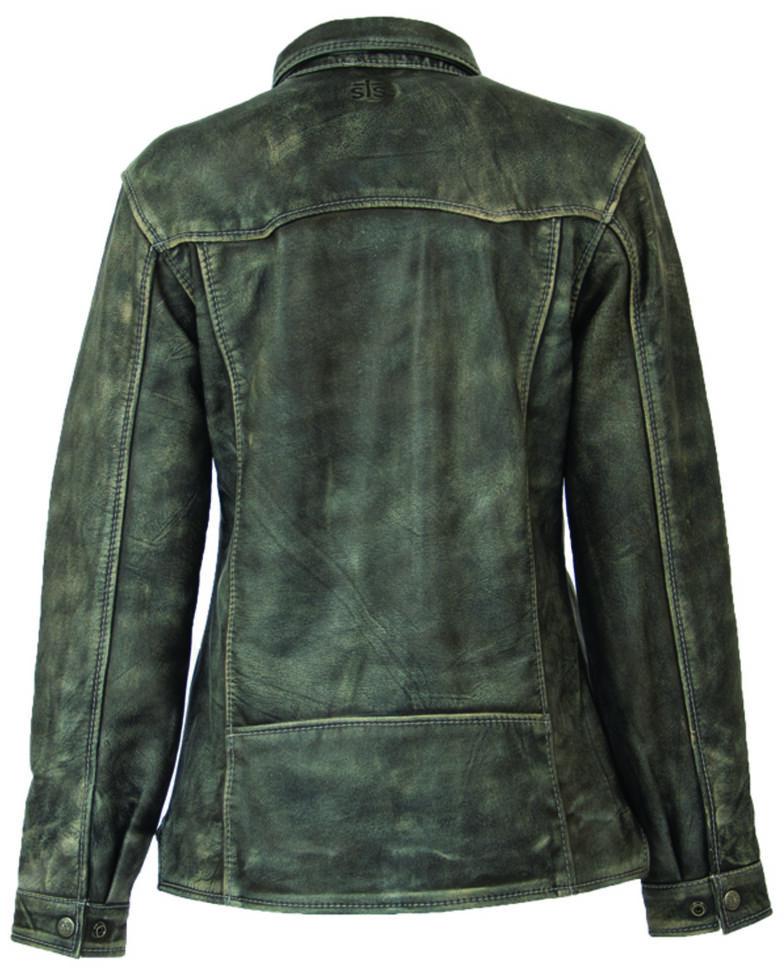 STS Ranchwear Women's Steele Grey Ranch Hand Leather Jacket , Dark Grey, hi-res