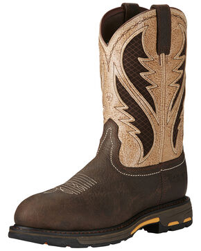 Ariat Men's Workhog Bruin VentTEK Western Work Boots - Composite Toe, Brown, hi-res