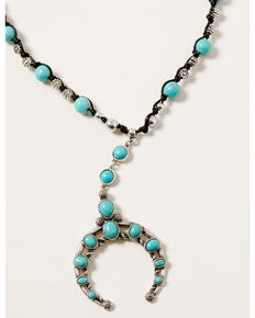 Shyanne Women's Midnight Sky Crescent Turquoise Stone Set, Silver, hi-res