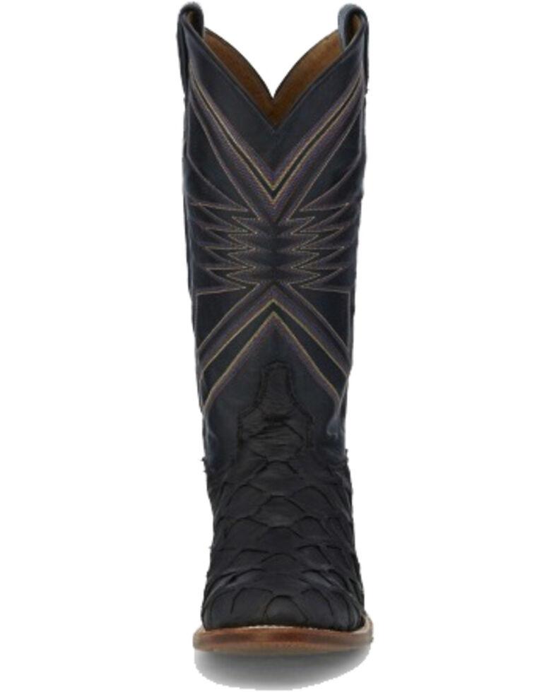 Tony Lama Men's Leviathan Black Western Boots - Square Toe, Black, hi-res