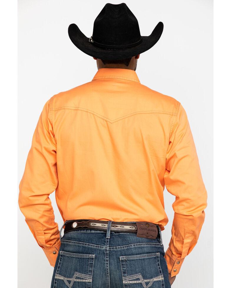 Wrangler Retro Men's Coral Solid Long Sleeve Western Shirt , Coral, hi-res