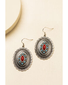 Idyllwind Women's Wild Rider Concho Earrings, Silver, hi-res