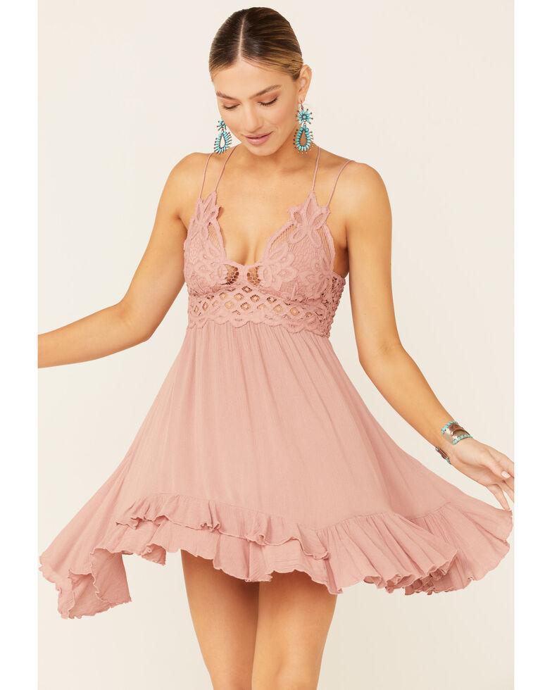 Free People Women's Adella Slip Dress, Rose, hi-res