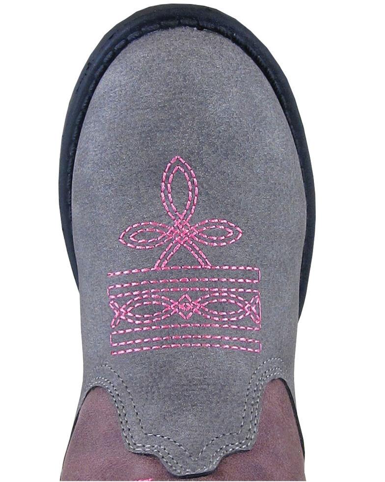 Smoky Mountain Girls' Austin Lights Western Boots - Round Toe, Grey, hi-res