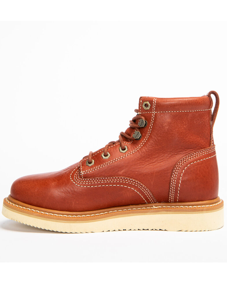 Hawx Men's Grade Wedge Work Boots - Round Toe, Red, hi-res