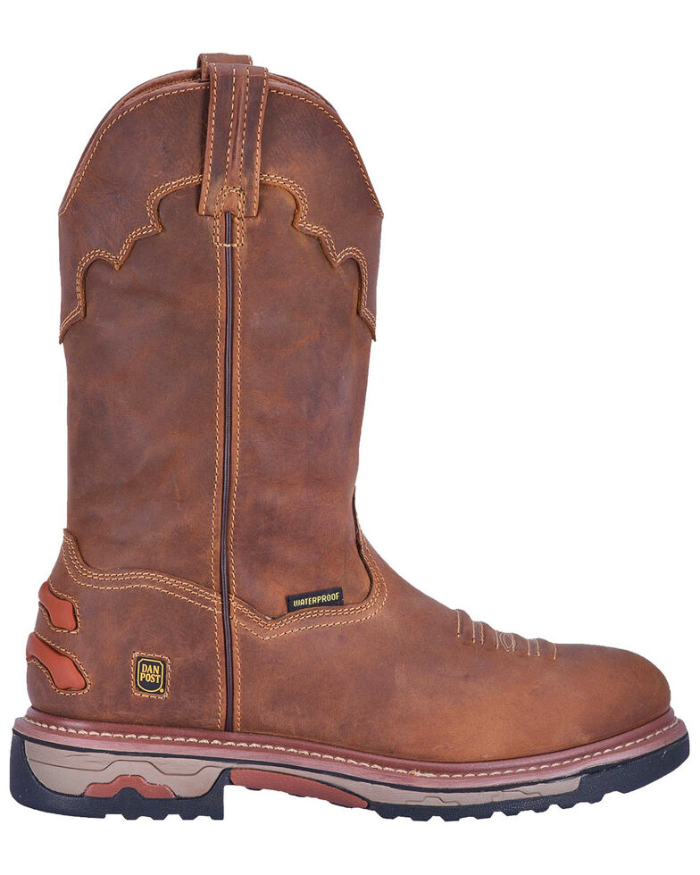Dan Post Men's Journeyman Waterproof Western Work Boots - Composite Toe, Brown, hi-res