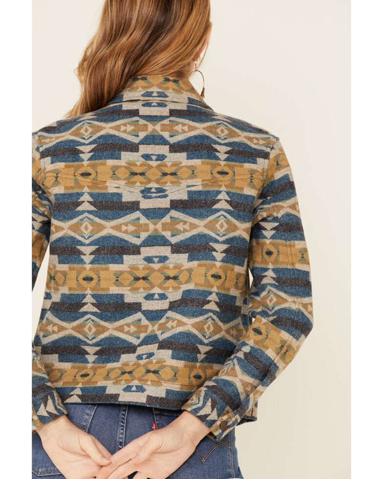 Pendleton Women's Navy Cardwell Wool Jacket , Navy, hi-res