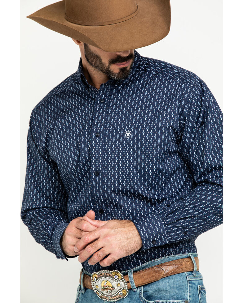 Ariat Men's Loveland Stretch Small Geo Print Long Sleeve Western Shirt - Tall , Multi, hi-res