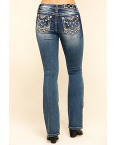 Miss Me Women's Bandana Bootcut Jeans , Blue, hi-res