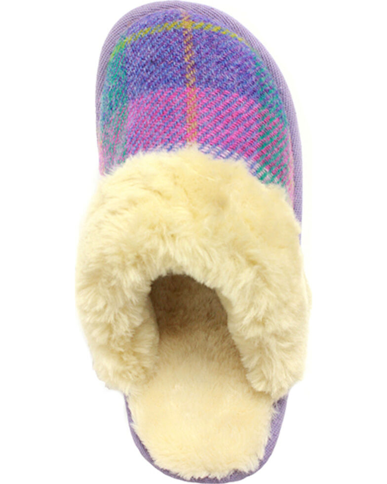 Lamo Footwear Women's Wembley Scuff Slippers , Purple, hi-res
