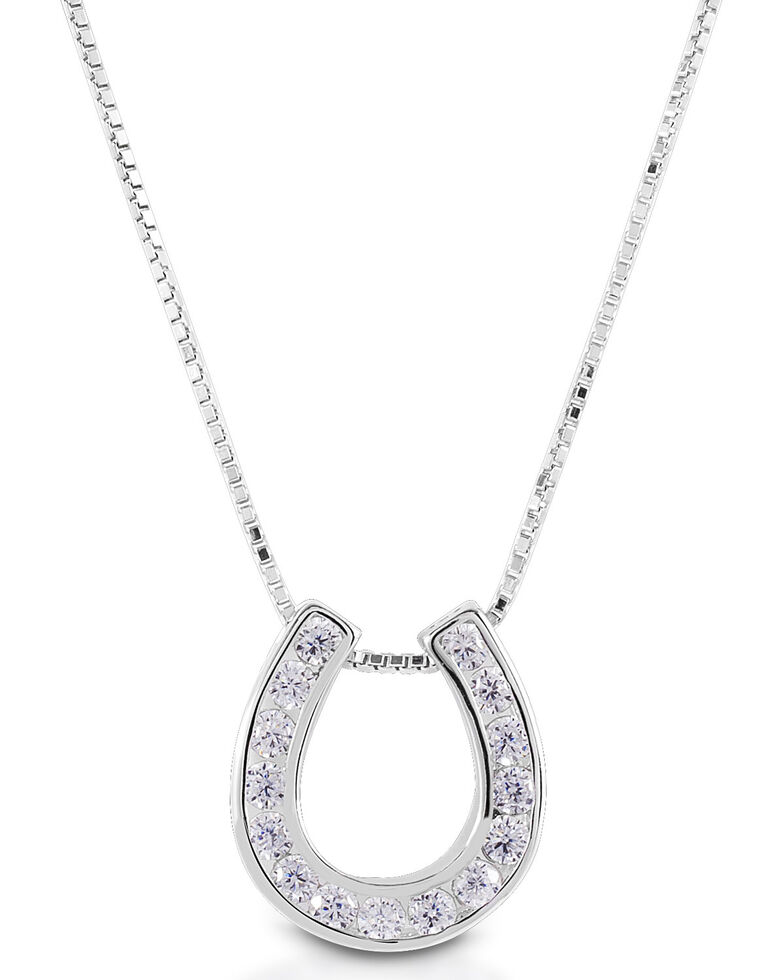 Kelly Herd Women's Single Horseshoe Necklace , Silver, hi-res