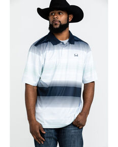 Cinch Men's Multi Striped Short Sleeve Polo Shirt , Multi, hi-res