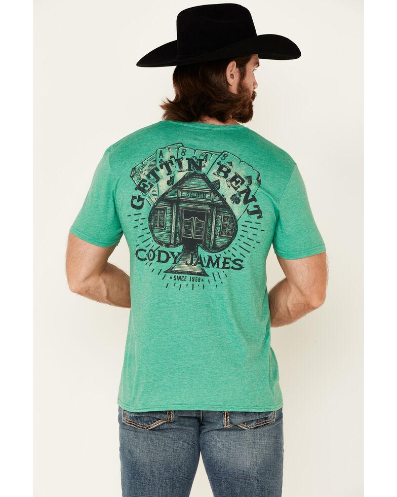 Cody James Men's Gettin' Bent Graphic Short Sleeve T-Shirt , Green, hi-res