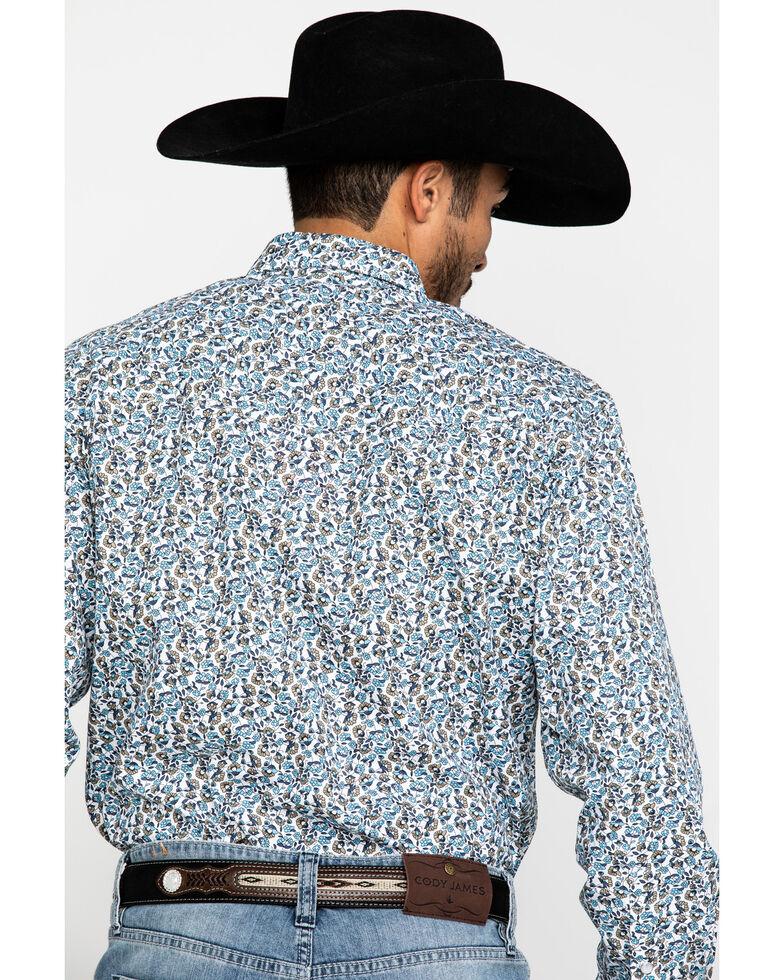 Resistol Men's Blue Tavares Floral Geo Print Long Sleeve Western Shirt , Blue, hi-res