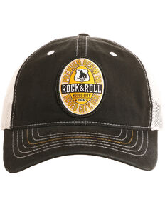 Rock & Roll Cowboy Men's Rodeo City USA Patch Cap , Black, hi-res