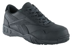 Reebok Men's Bema Work Shoes - Composite Toe, Black, hi-res