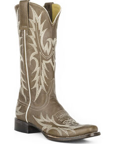 Stetson Women's Jordan Grey Horick Western Boots - Square Toe, Grey, hi-res