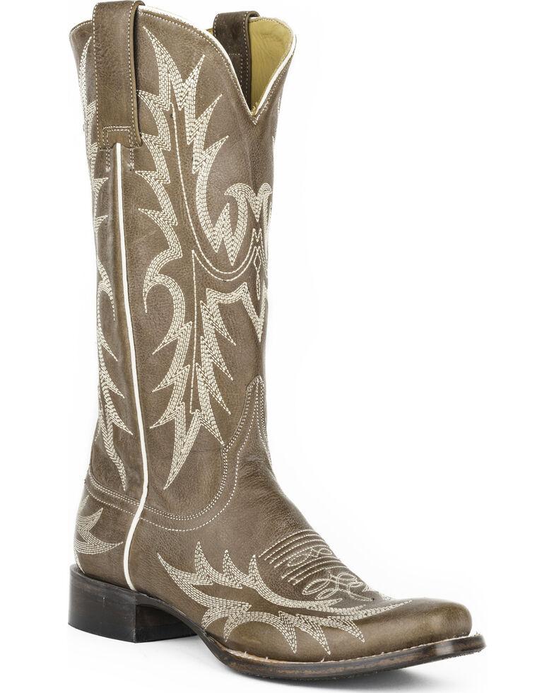 Stetson Women's Jordan Grey Horick Western Boots - Square Toe, Grey, hi-res