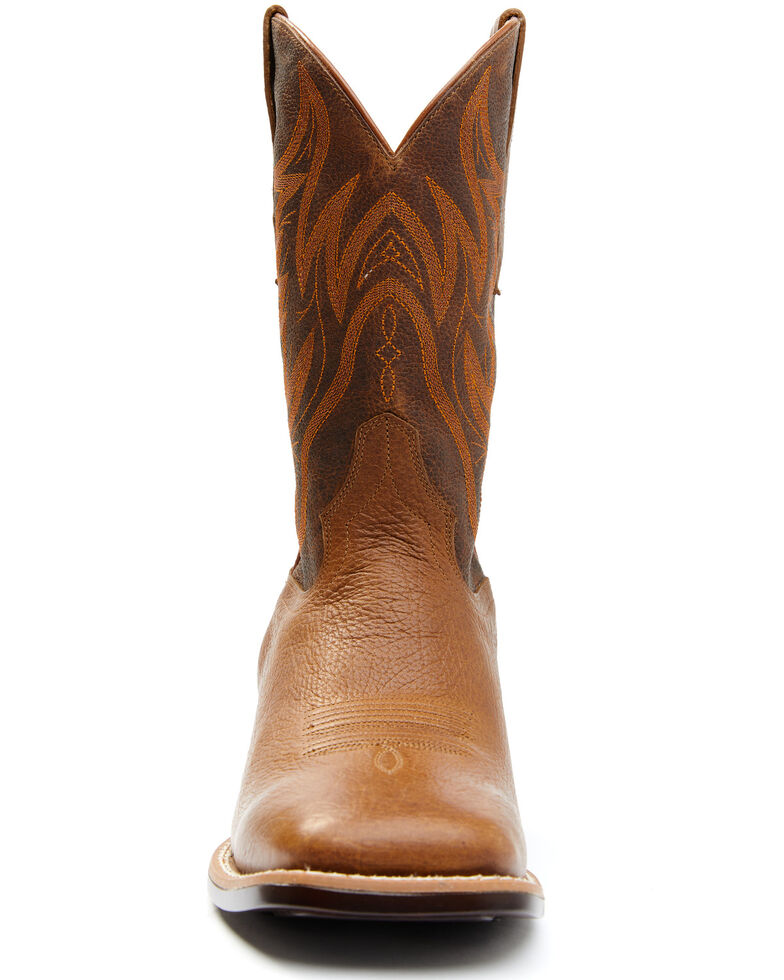 Cody James Men's Hoverfly Western Boots - Wide Square Toe, Brown, hi-res