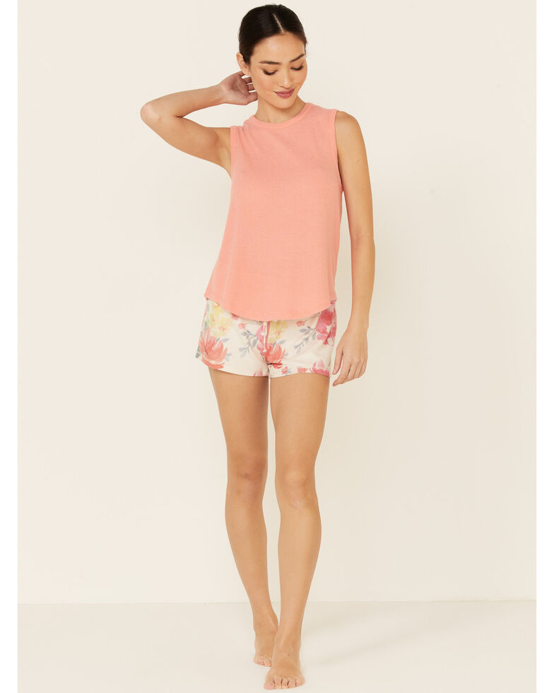 PJ Salvage Women's Happy Blooms Floral Print Shorts, Oatmeal, hi-res