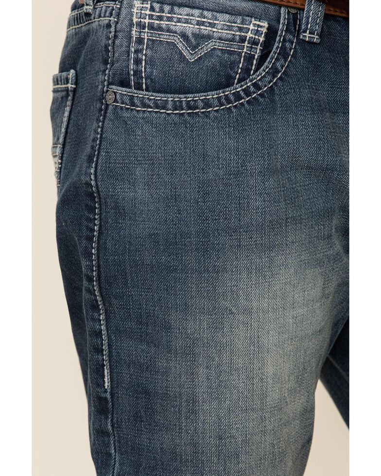 Rock & Roll Denim Men's Vintage Stackable Relaxed Bootcut Jeans , Blue, hi-res