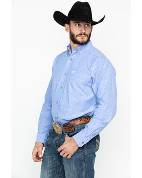 Ariat Men's Sanchez Print Long Sleeve Western Shirt, Blue, hi-res