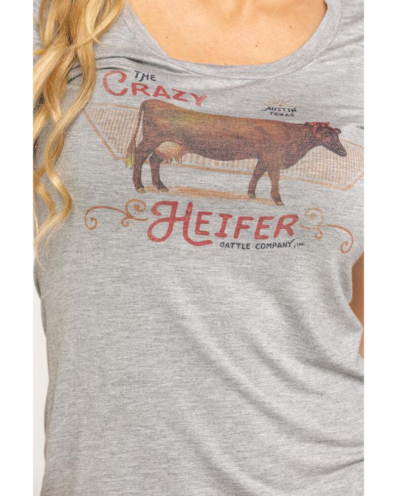 Idyllwind Women's Crazy Heifer Trustie Tee, Heather Grey, hi-res