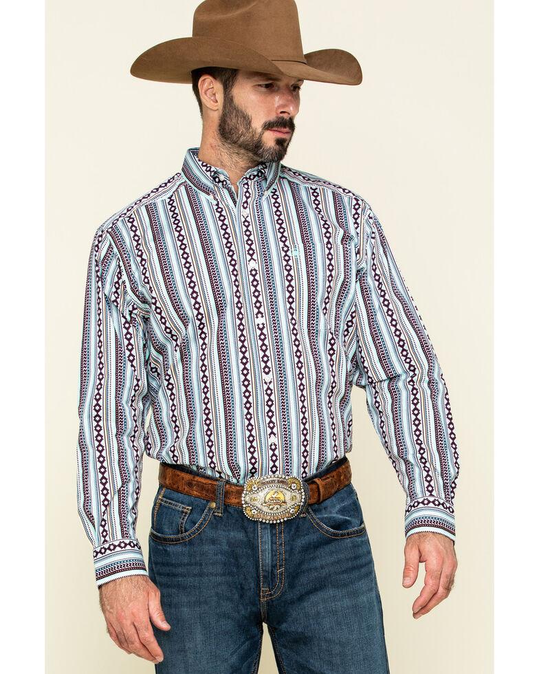Ariat Men's Ripon Stretch Aztec Stripe Long Sleeve Western Shirt , Multi, hi-res