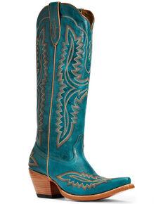 Ariat Women's Casanova Western Boots - Snip Toe, Blue, hi-res