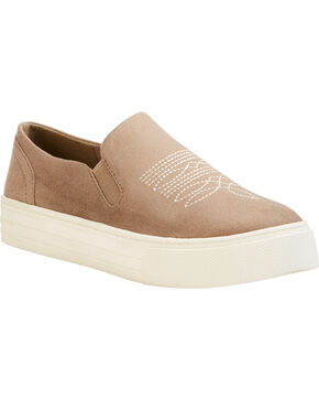 Ariat Women's Sand Unbridled Ace Suede Shoes - Round Toe, Sand, hi-res
