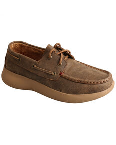 Twisted X Women's Reva 12 Driving Shoes - Moc Toe, Brown, hi-res