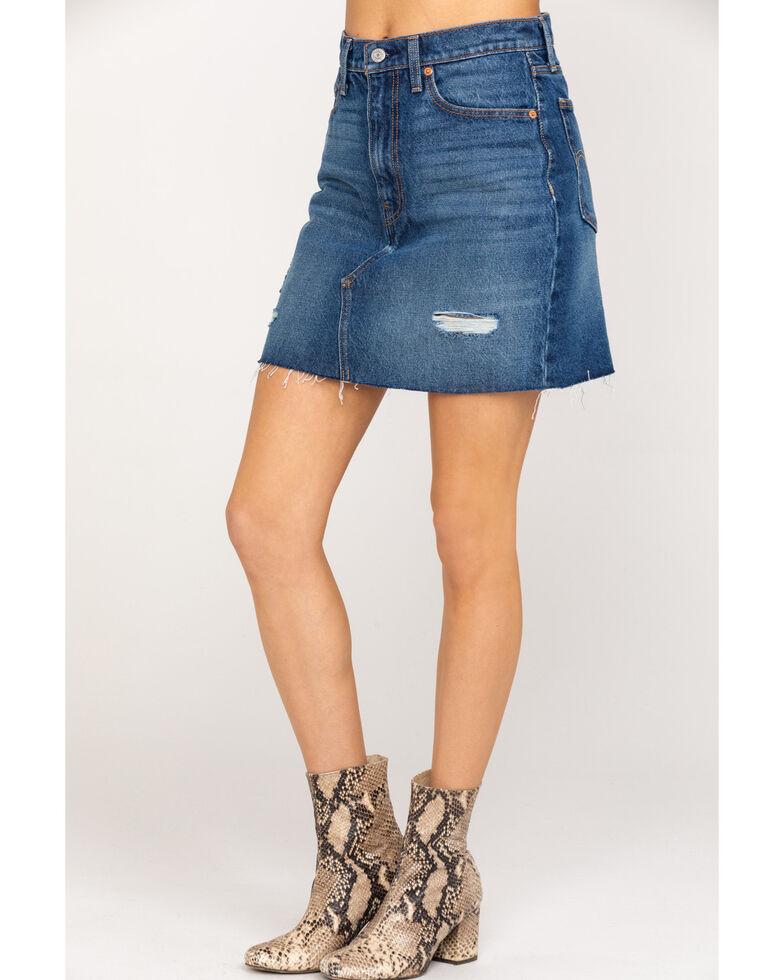 Levi's Women's Medium Wash Mini Skirt, Blue, hi-res