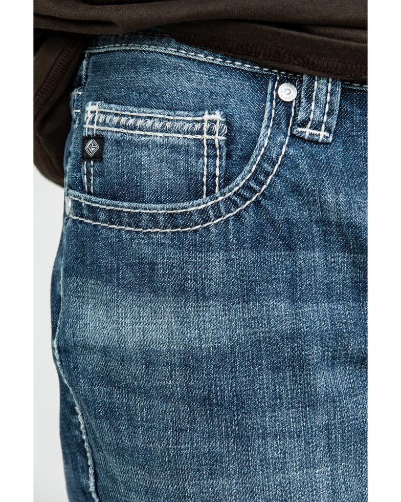 Rock & Roll Cowboy Men's Pistol Vintage Med Bootcut Jeans , Blue, hi-res