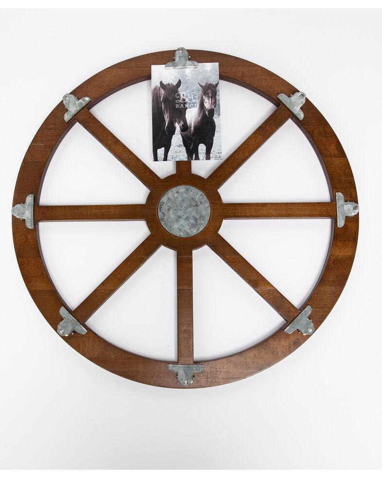 BB Ranch Wagon Wheel Photo Clip Wall Decor, Brown, hi-res