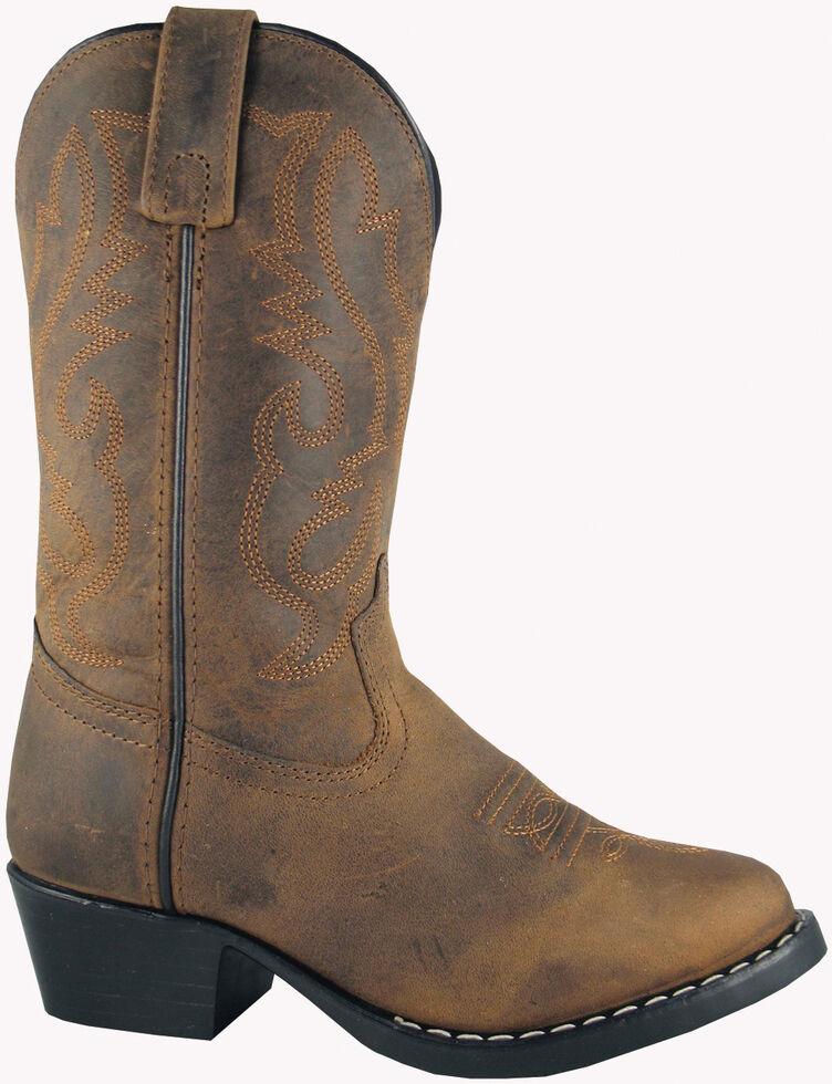 Smoky Mountain Toddler Boys' Denver Western Boots - Round Toe, Brown, hi-res