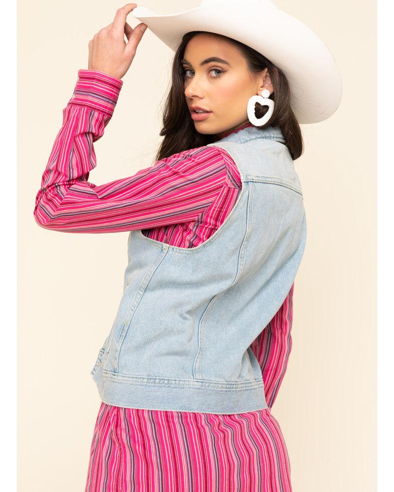 Lee Women's Light Wash Rider Vest , Blue, hi-res