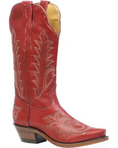 Boulet Men's Deerlite Cowgirl Boots - Snip Toe, Red, hi-res