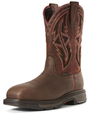 Ariat Men's Workhog XT VentTEK Western Work Boots - Carbon Toe, Chocolate, hi-res