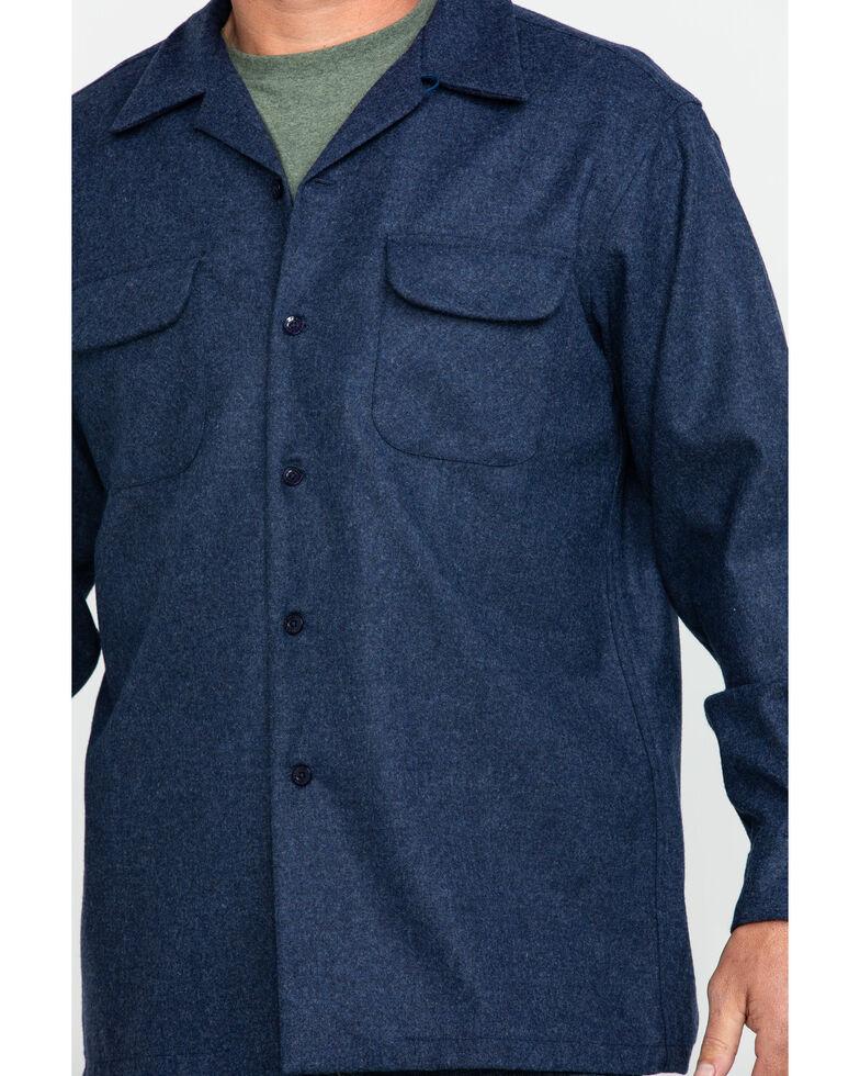 Pendleton Men's Navy Board Solid Long Sleeve Western Shirt , Navy, hi-res