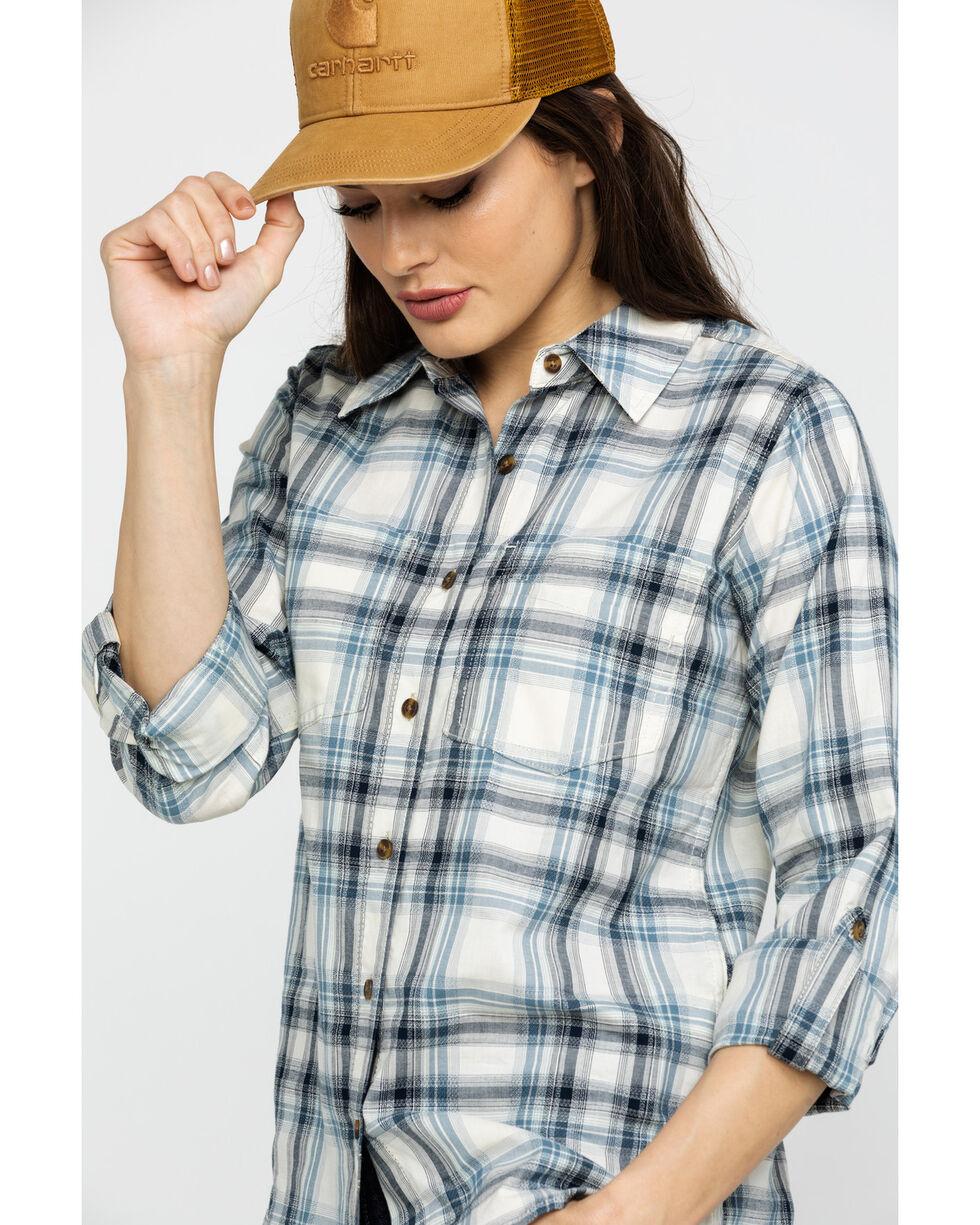 Carhartt Women's Blue Fairview Plaid Long Sleeve Shirt , Blue, hi-res