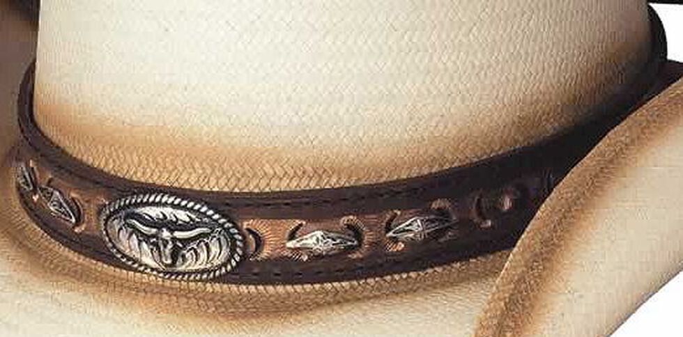 Little Big Horn Natural Shantung Panama Straw Hat, Natural, hi-res