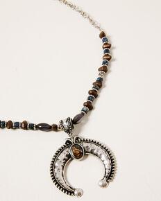 Shyanne Women's Claire Squash Blossom Beaded Necklace Set, Silver, hi-res