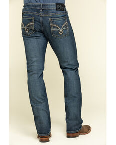 Rock 47 By Wrangler Men's Synthesizer Dark Slim Bootcut Jeans , Blue, hi-res