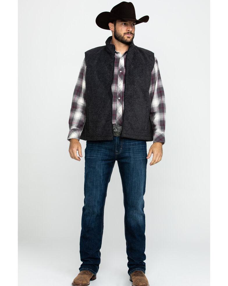 Outback Trading Co. Men's Charcoal Oregon Vest , Charcoal, hi-res