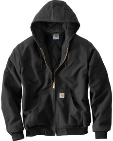 Carhartt Quilted Flannel Lined Duck Active Jacket, Black, hi-res