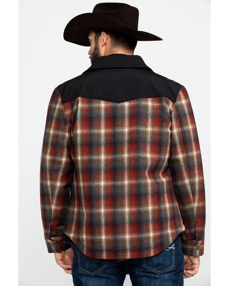 Pendleton Men's Rust Cooper Plaid Shirt Jacket , Rust Copper, hi-res