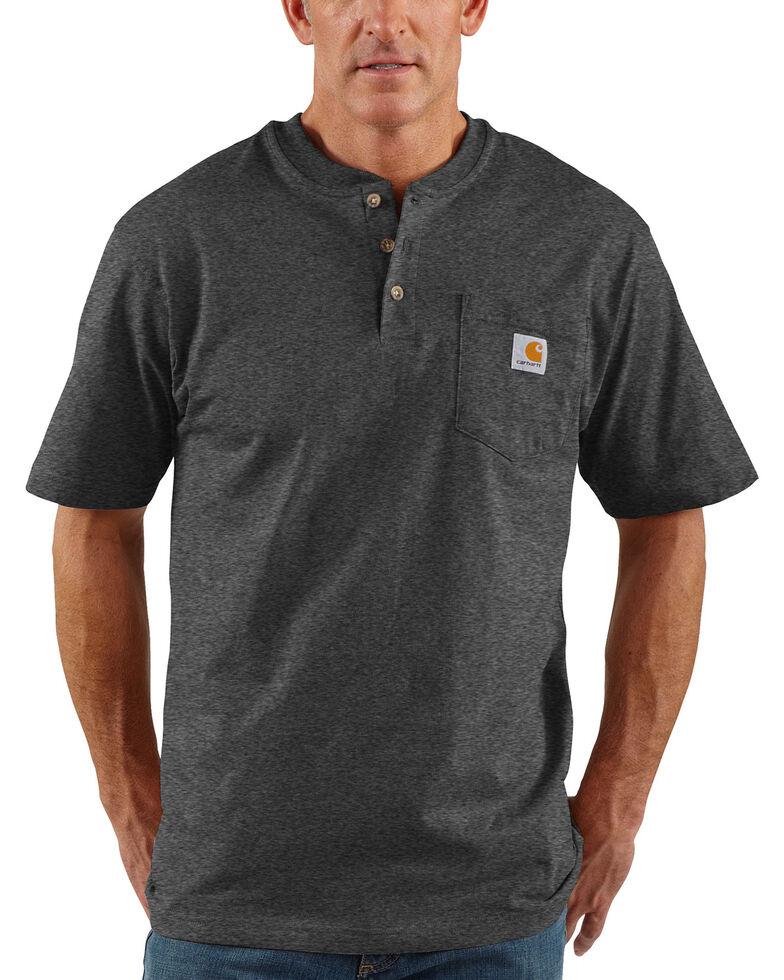 Carhartt Men's Grey Workwear Henley Shirt , Heather Grey, hi-res